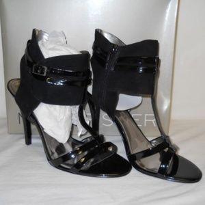 NIB Marc Fisher Sashay Black Multi Heels Sz.10